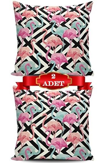 Lady Moda Flamingo Kırlent Kılıfı Renkli